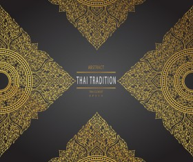 Thai tradition pattern background vintage vector