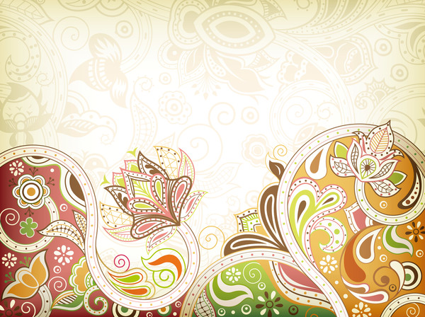 Tracery decor pattern with backgrounds vector 04