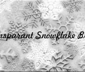 Transparant snowflakes photoshop brushes