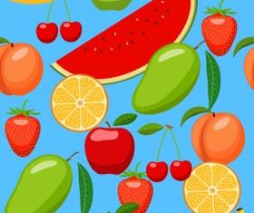 Various fruits seamless pattern vector