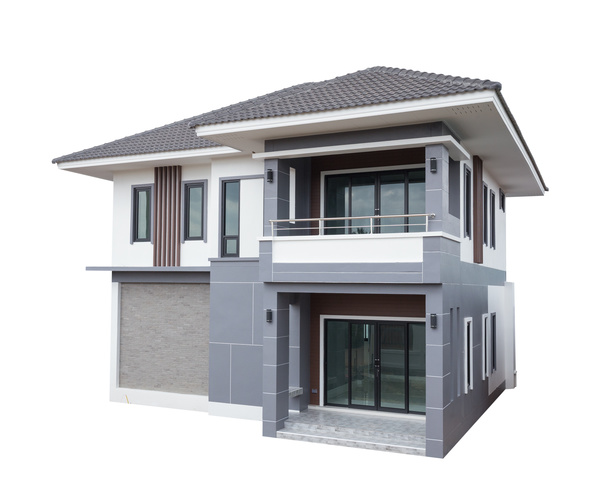 3d Model House Building Residential: Various Types Of Residential Building Models Stock Photo