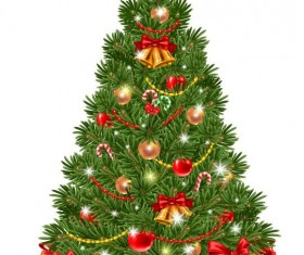 Vector christmas tree with gifts design 02