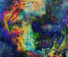 Watercolor Abstract Painting Background Stock Photo 01