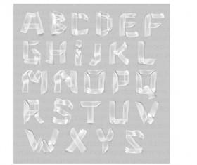 White paper alphabet vector