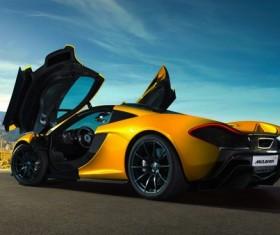 Yellow McLaren sports car Stock Photo
