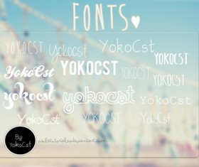 Yokocst font pack