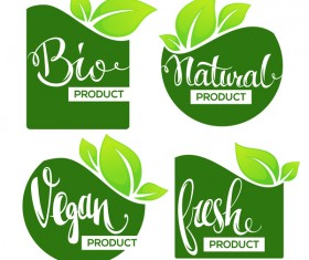 bio stickers vector