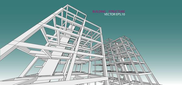 Building structure vector illustration 01 vector Building structural design software free download