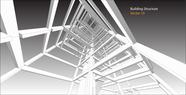 Building structure vector illustration 03 vector Building structural design software free download