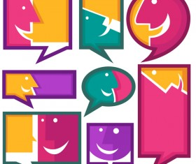 communication speech bubbles vector