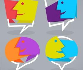 face speech bubbles vector