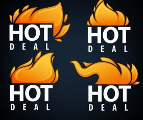 hot deal emblems vector set