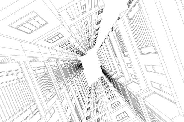 architectural drawings of skyscrapers. Skyscrapers Structure Architecture Vector Illustration. Sketch Material Architectural Drawings Of