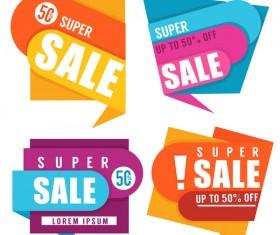 super sale labels vector