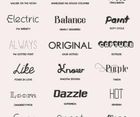 18 Kind free font pack