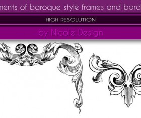 2 Kind Baroque Style Frames And Borders photoshop brushes