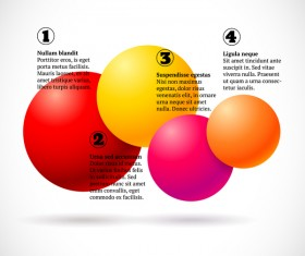 3D colored balls with numbered infographics vector 03