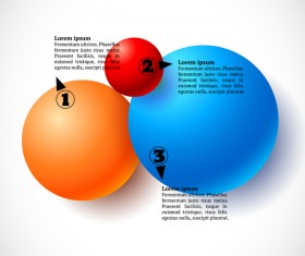 3D colored balls with numbered infographics vector 05