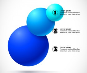 3D colored balls with numbered infographics vector 06
