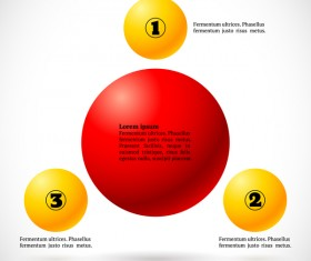 3D colored balls with numbered infographics vector 08