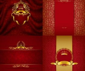 4 kind red luxury background vector