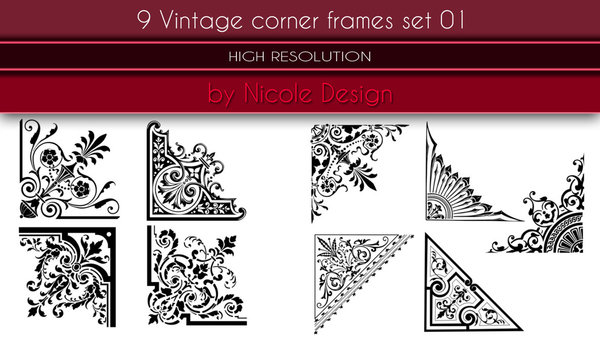 Corner Picture Frames corner picture frames. elegant shadow groove frames with corner