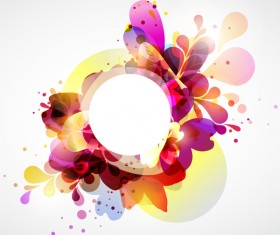 Abstract background with colorful elements vectors 01