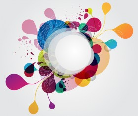 Abstract background with colorful elements vectors 05