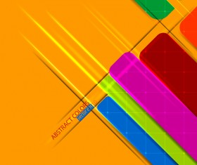 Abstract colored elements with yellow background vector