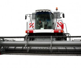 Agricultural harvesters Stock Photo