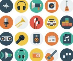 Audio vintage icons