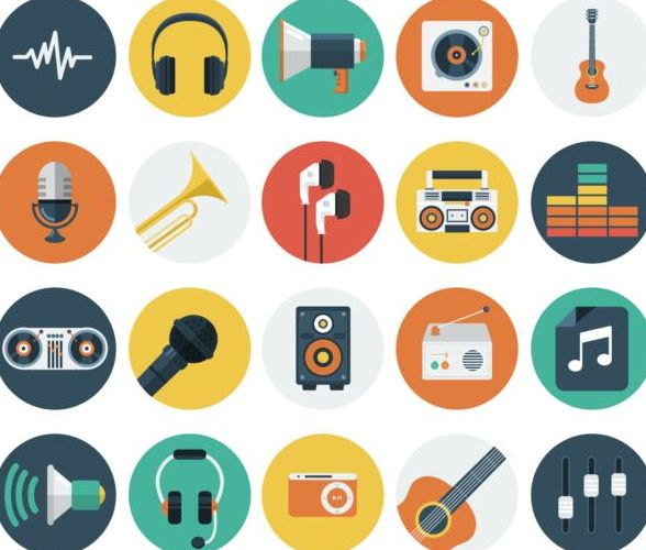 Audio vintage icons