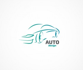 Auto logo design vector