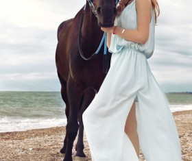 Beach beauty and horse HD picture 03