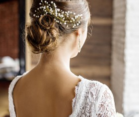 Beautiful bride with pan head HD picture