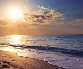 Beautiful sunset in the sea Stock Photo 05