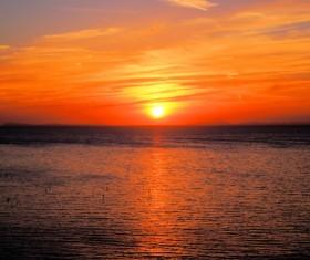 Beautiful sunset in the sea Stock Photo 06