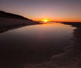 Beautiful sunset in the sea Stock Photo 08