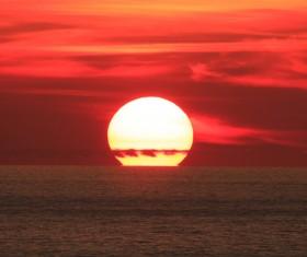 Beautiful sunset in the sea Stock Photo 09