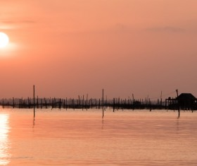 Beautiful sunset in the sea Stock Photo 10