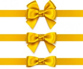 Beautiful yellow bow vector