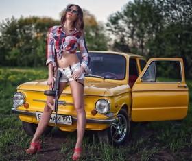 Beauty gun car Stock Photo
