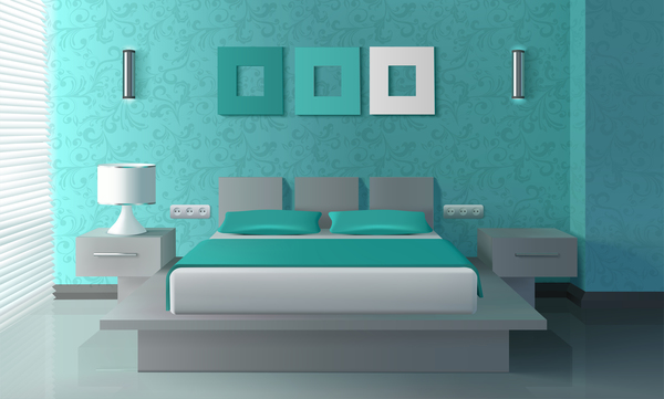 Good Bedroom Interior Design Vector 01