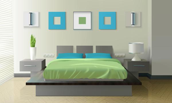 Bedroom Interior Design Vector 02