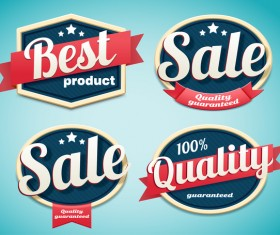 Best product sale labels vector