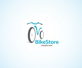 Bike store logo design vectors