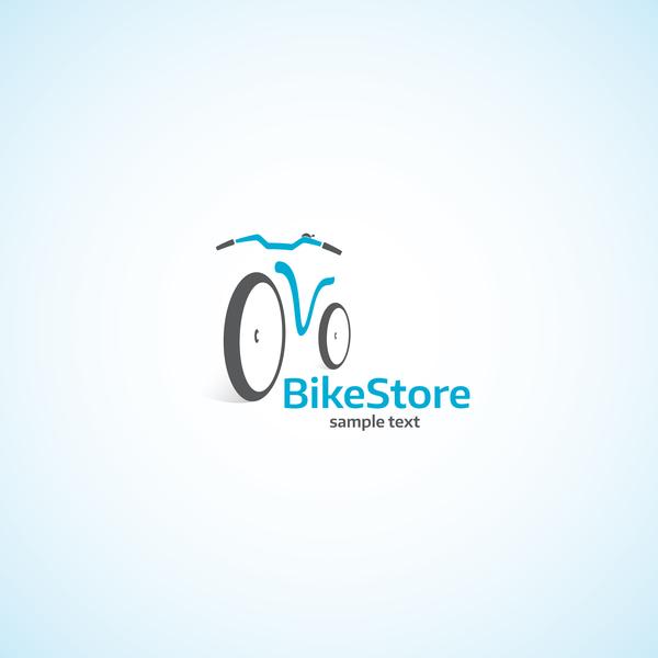 Bike store logo design vectors
