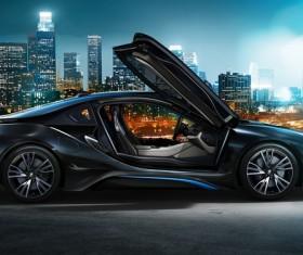 Black BMW sports car Stock Photo