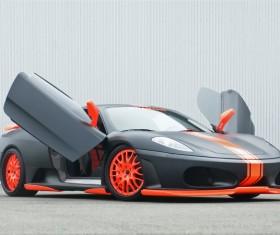 Black cool sports car Stock Photo