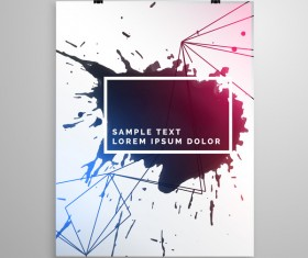 Black ink grunge cover template vector 01